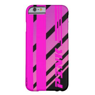 rosa tävlings- sportig randabstrakt för cRay Barely There iPhone 6 Skal