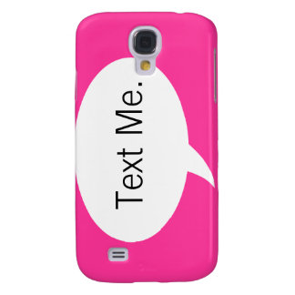 "Rosa ""text mig"" tal bubblar iphone 3 fodral"
