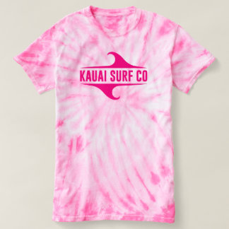 Rosa Tie-Färg för Kauai surfaCo. T-tröja Tee Shirt