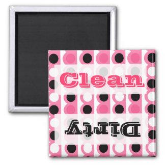 Rosa tillbehör för polka dotskökdekor magnet