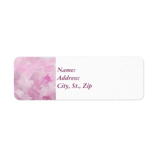 Rosa toner returadress etikett