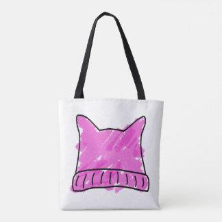 Rosa toto för konst för Pussyhattklotter Tygkasse