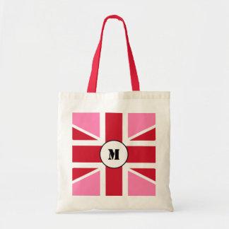 Rosa toto för United Kingdom flaggabudget Tote Bags