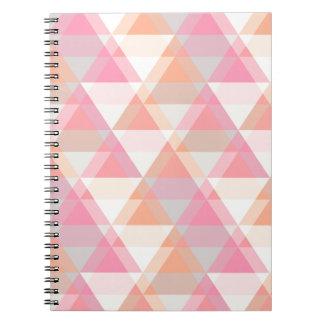 Rosa trianglar anteckningsbok