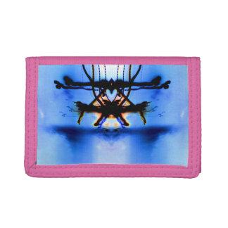 Rosa TriFold hjärta på en Pedastal plånbok