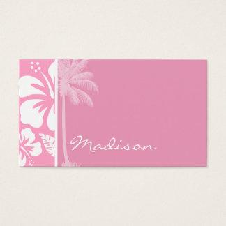 Rosa tropisk hibiskus för nejlika; visitkort