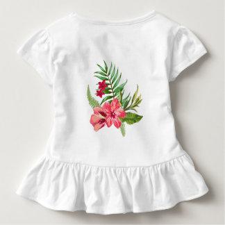 Rosa tropiska blommor tröja