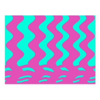 rosa turkosrandar vykort