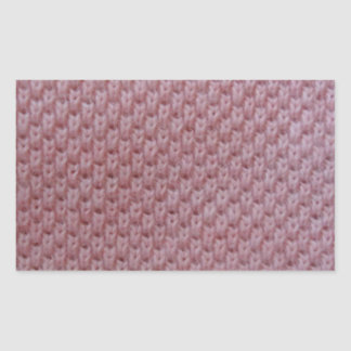 rosa tyg rektangulärt klistermärke