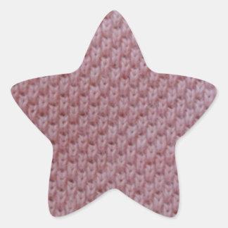 rosa tyg stjärnformat klistermärke