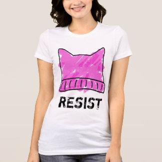 Rosa utslagsplats för konst för Pussyhattklotter T Shirt