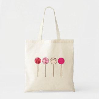 Rosa valentin för tårtapoppop toto för kärlek för tygkasse