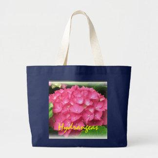 Rosa vanlig hortensia Totebag Jumbo Tygkasse