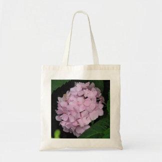 Rosa vanlig hortensia tygkasse