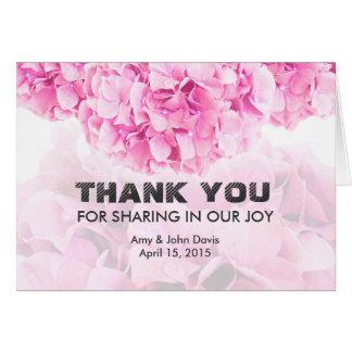 Rosa vanlig hortensiabröllop tackar dig hydrangea1 OBS kort