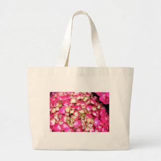 Rosa vanlig hortensiabukett jumbo tygkasse