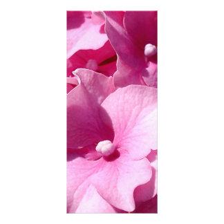Rosa vanlig hortensiarackcard anpassningsbara rackkort