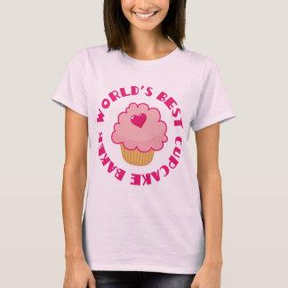 Rosa världs bäst gåva för muffinbagare t shirts