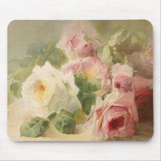 Rosa vattenfärg för vintageVictorian Mus Matta