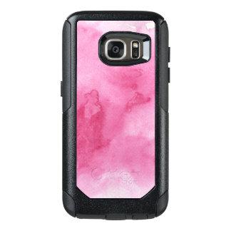 rosa vattenfärgbakgrund för ditt OtterBox samsung galaxy s7 skal