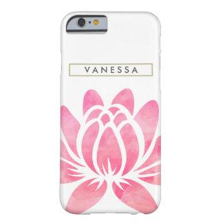 Rosa vattenfärglotusblommar blommar flickaktigt barely there iPhone 6 fodral