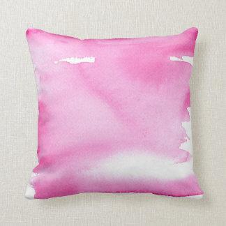 Rosa vattenfärgstänk kudder kuddar