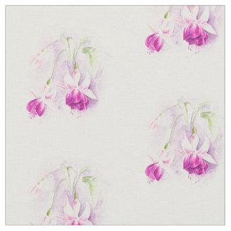 Rosa vattenfärgtyg för Fuchsia botanisk konst Tyg