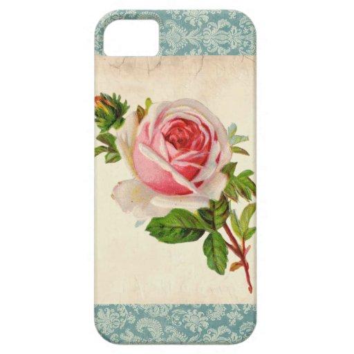 Rosa Victorian och damast iPhone 5 Hud