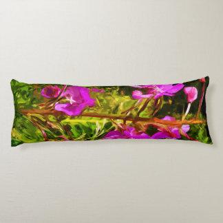 Rosa vildblommaabstrakt för alaskabo Fireweed Kroppskudde