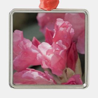 Rosa vildblommor julgransprydnad metall