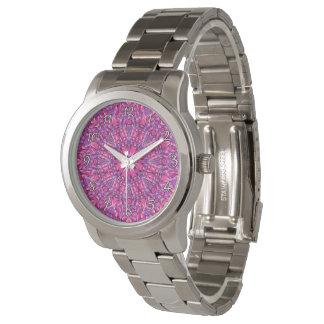 Rosa vintagemanar för n   purpurfärgade färgrika armbandsur