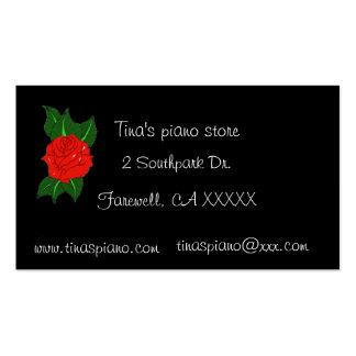 Rosa visitkort för piano
