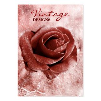 Rosa visitkort för vintage