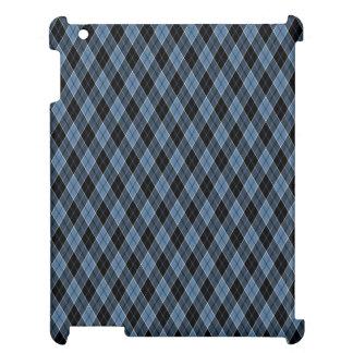 Rosa vit för den LotusArgyle blåttsvarten görar iPad Mobil Skal