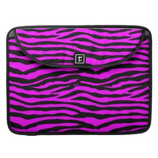 Rosa zebra ränder MacBook pro sleeve