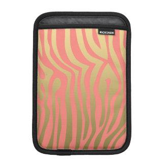 Rosa zebra rändermönster för guld och för korall
