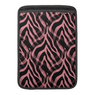 Rosa zebra rändertryck för Snazzy jordgubbe Sleeve För MacBook Air