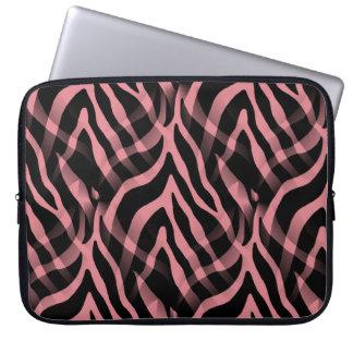 Rosa zebra rändertryck för Snazzy jordgubbe Laptopskydd