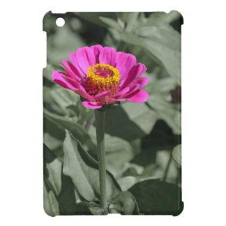 Rosa zinniablomma för singel iPad mini fodral