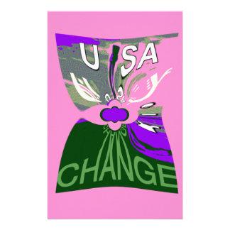 Rosaändring Hillary USA är vi starkare tillsammans Brevpapper