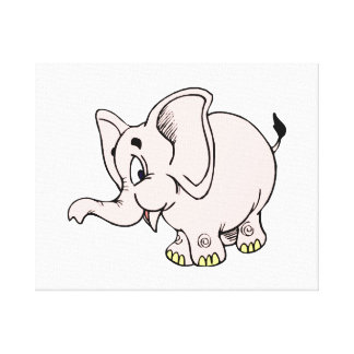 Rosabebiselefant graphic.png kanvasduk med gallerikvalitet