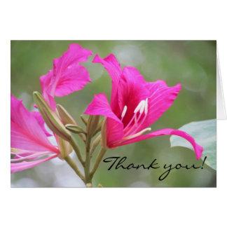 Rosablomman tackar dig hälsningskort