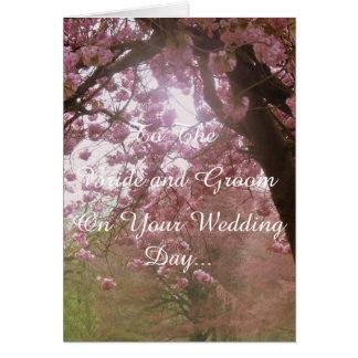Rosablommarbröllopsdag Hälsningskort
