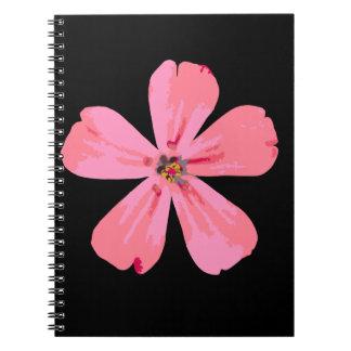 Rosablommaspiral noterar boken anteckningsbok