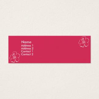 Rosablommor - smala litet visitkort