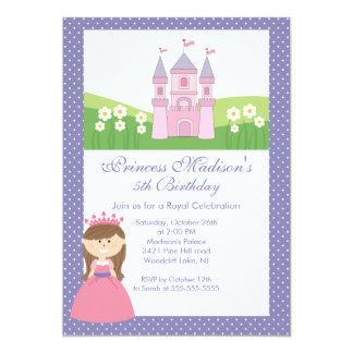 Rosalilor för Princess födelsedagsfest inbjudan