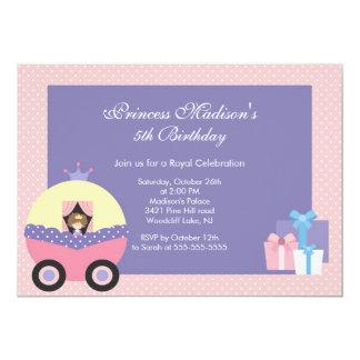 Rosalilor för Princess födelsedagsfest inbjudan 12,7 X 17,8 Cm Inbjudningskort