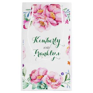Rosan blommar bukettvintage bröllop