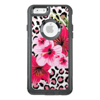 Rosan blommar & designen för Leopardmönstertryck OtterBox iPhone 6/6s Skal