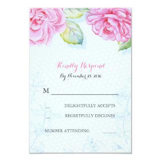 rosan blommar elegant brölloposa 8,9 x 12,7 cm inbjudningskort